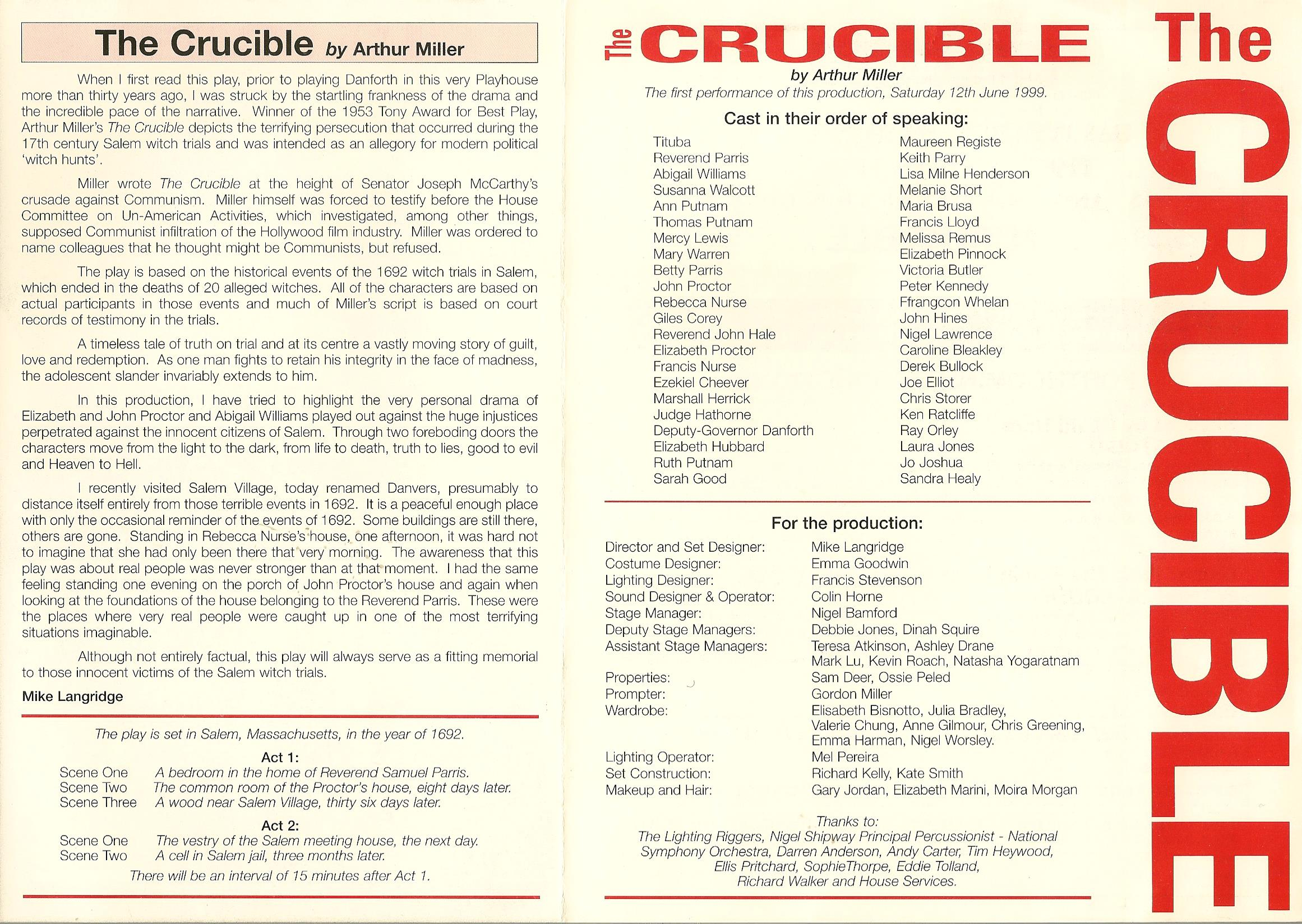 an analysis of witch hunting in the crucible by arthur miller Struggling with arthur miller's the crucible check out our thorough summary and analysis of this except these aren't the only two examples of witch-hunting in.